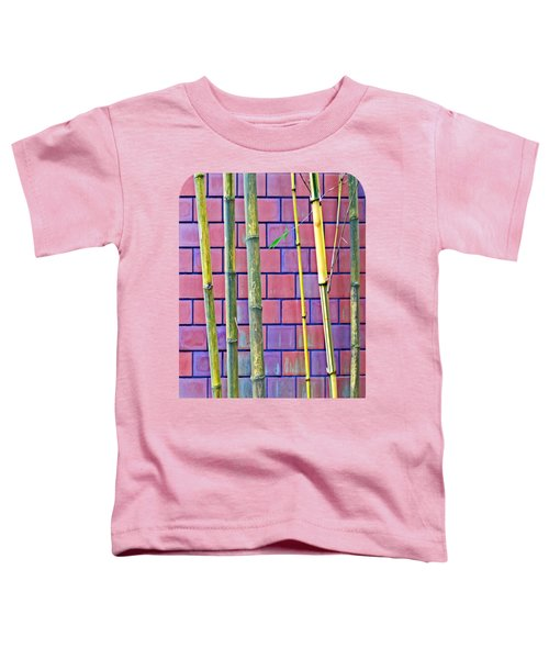 Bamboo And Brick Toddler T-Shirt by Ethna Gillespie