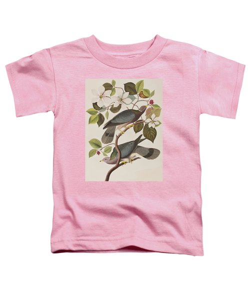 Band-tailed Pigeon  Toddler T-Shirt by John James Audubon