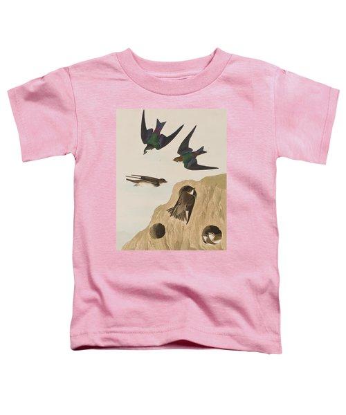 Bank Swallows Toddler T-Shirt by John James Audubon