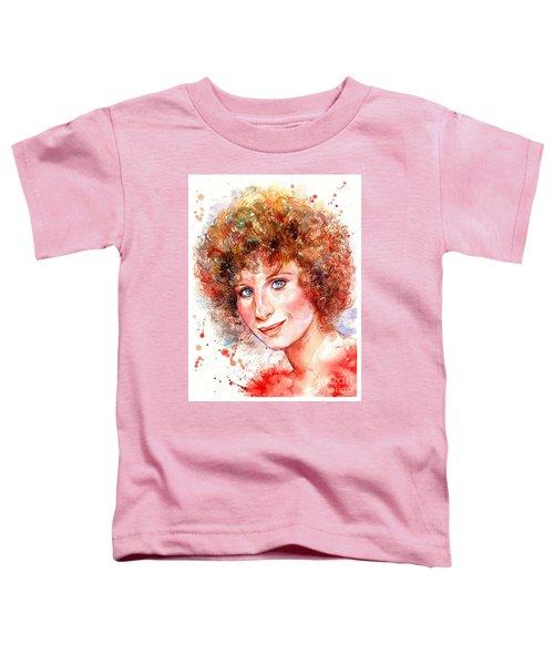 Barbra Streisand Portrait Toddler T-Shirt