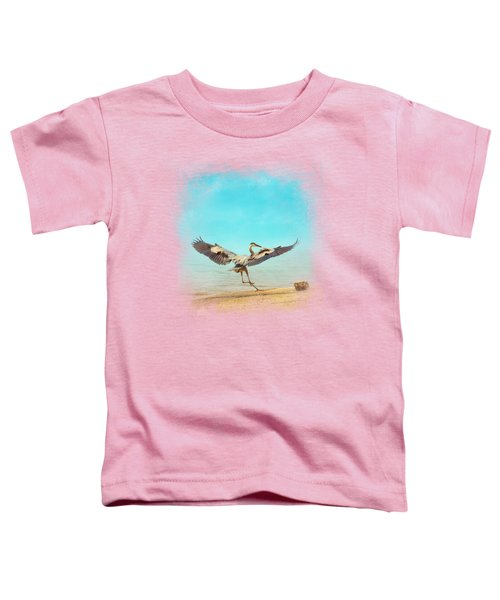 Beach Dancing Toddler T-Shirt by Jai Johnson