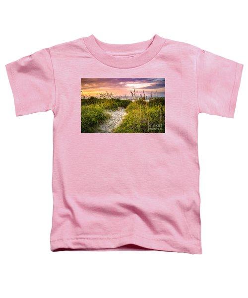 Beach Path Sunrise Toddler T-Shirt