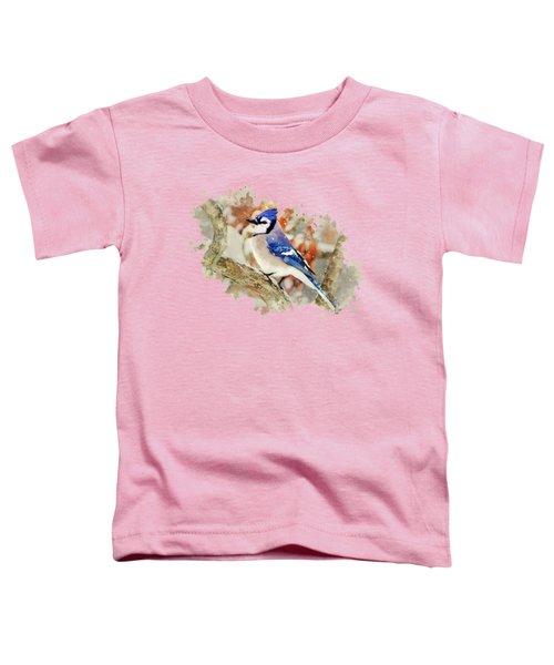 Beautiful Blue Jay - Watercolor Art Toddler T-Shirt