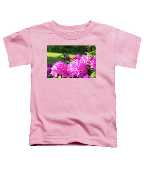 Bee Flying Over Catawba Rhododendron Toddler T-Shirt