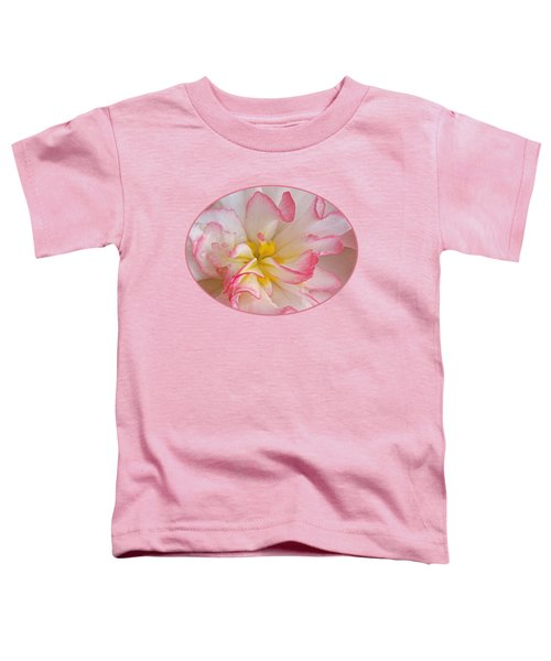 Begonia Pink Frills - Horizontal Toddler T-Shirt