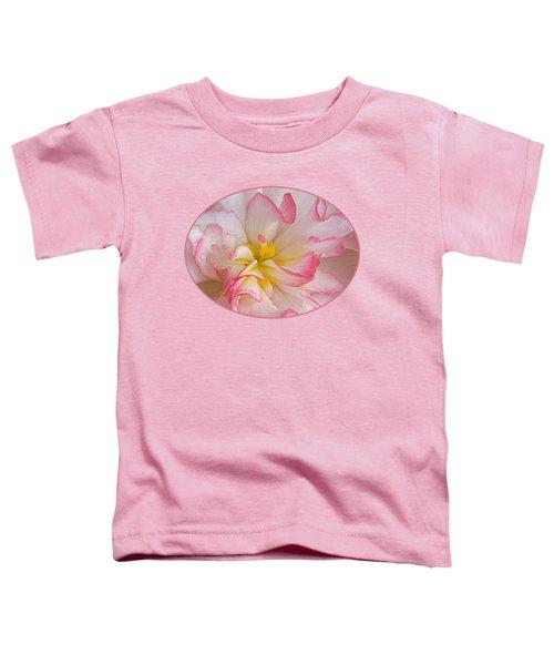 Begonia Pink Frills - Vertival Toddler T-Shirt