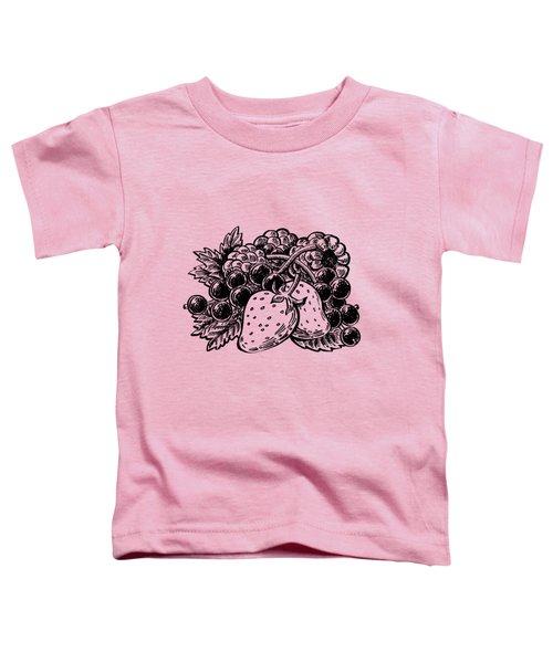 Berries From Forest Toddler T-Shirt by Irina Sztukowski