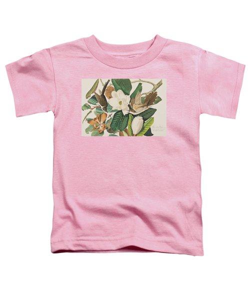 Black Billed Cuckoo Toddler T-Shirt by John James Audubon
