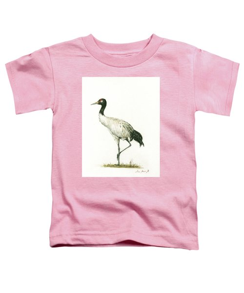 Black Necked Crane Toddler T-Shirt