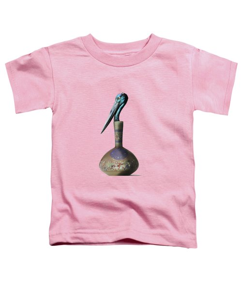Black Necked Stork Stuffed Inside The Gilded Bottle Toddler T-Shirt