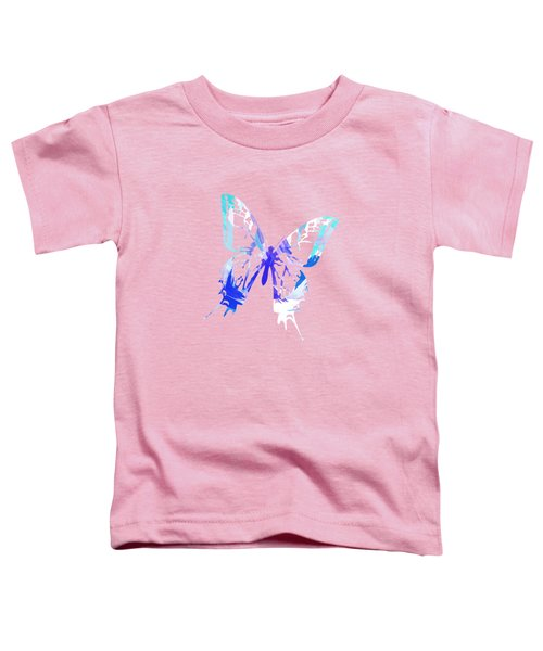 Blue Abstract Paint Pattern Toddler T-Shirt