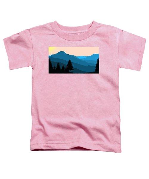 Blue Landscape Toddler T-Shirt