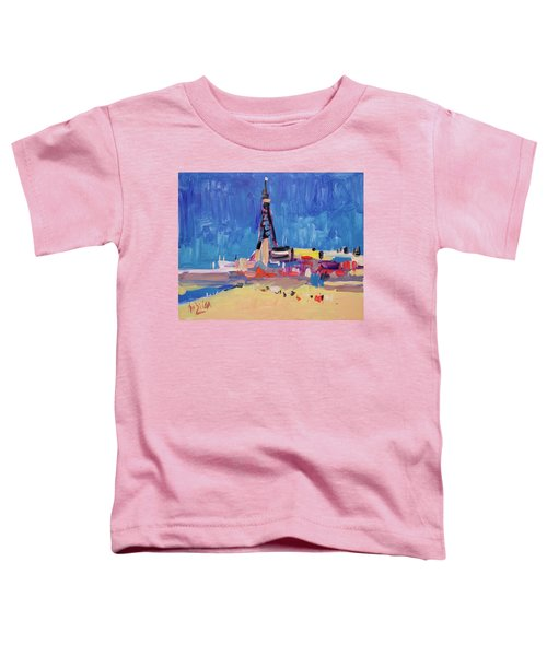 Blue Sky Blackpool Toddler T-Shirt by Nop Briex