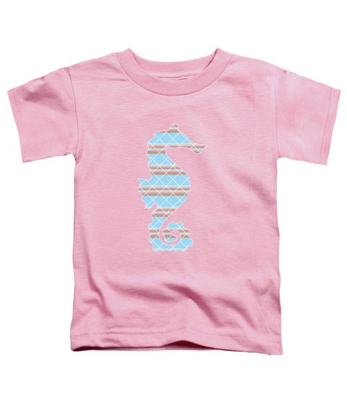 Blue Stripe Pattern Aged Toddler T-Shirt by Christina Rollo