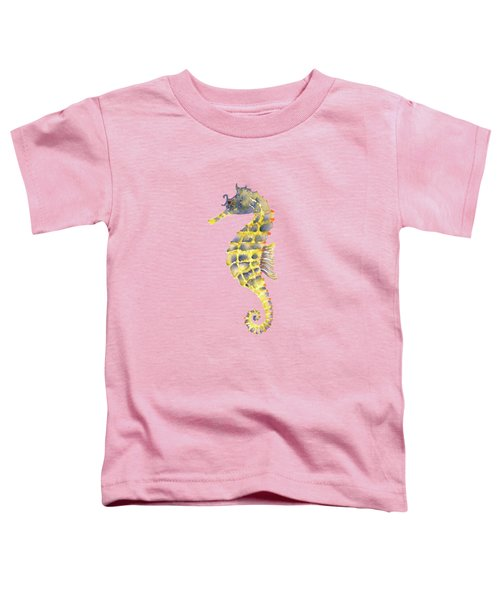 Blue Yellow Seahorse - Square Toddler T-Shirt