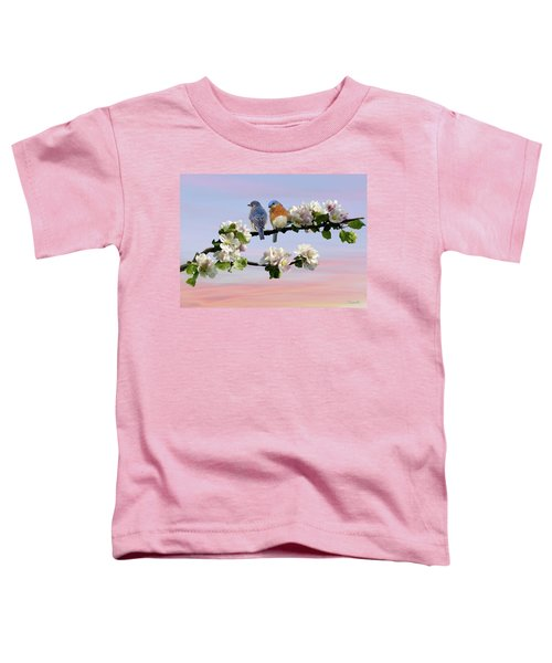 Bluebirds In Apple Tree Toddler T-Shirt