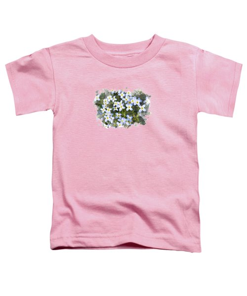 Bluet Flowers Watercolor Art Toddler T-Shirt