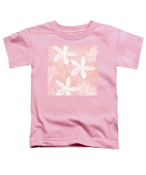 Blush Blossoms 3- Art By Linda Woods Toddler T-Shirt