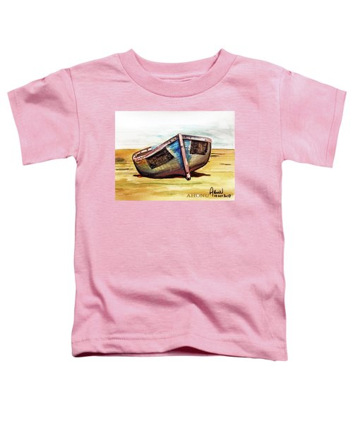 Boat On Beach Toddler T-Shirt