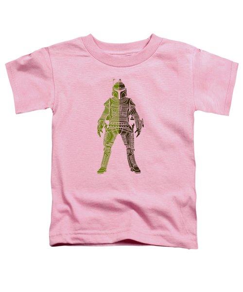 Boba Fett - Star Wars Art, Green 03 Toddler T-Shirt