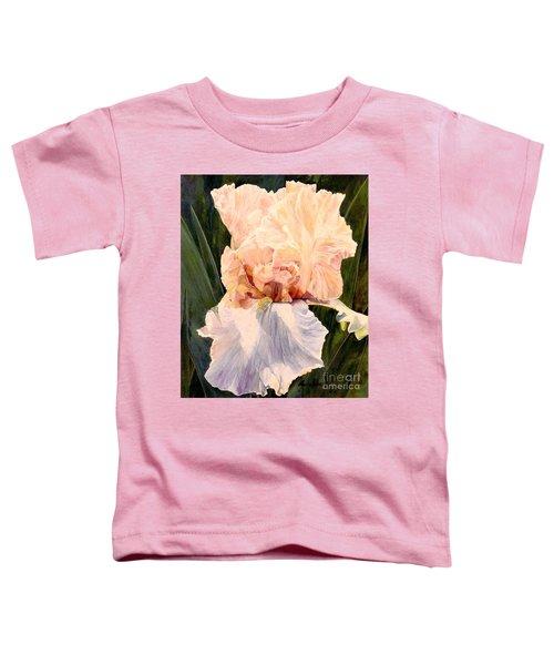 Botanical Peach Iris Toddler T-Shirt