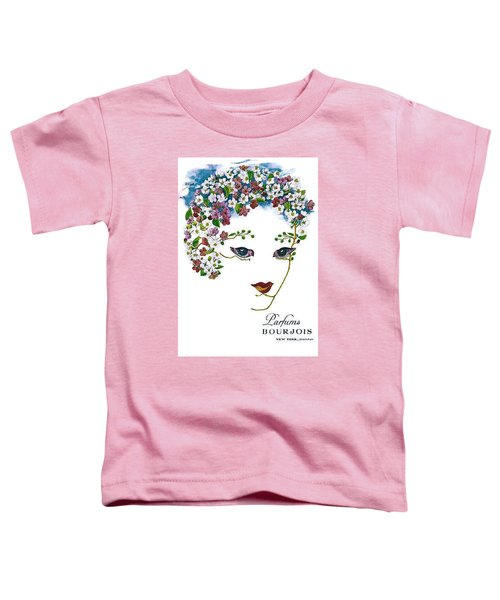 Toddler T-Shirt featuring the digital art Bourjois by ReInVintaged
