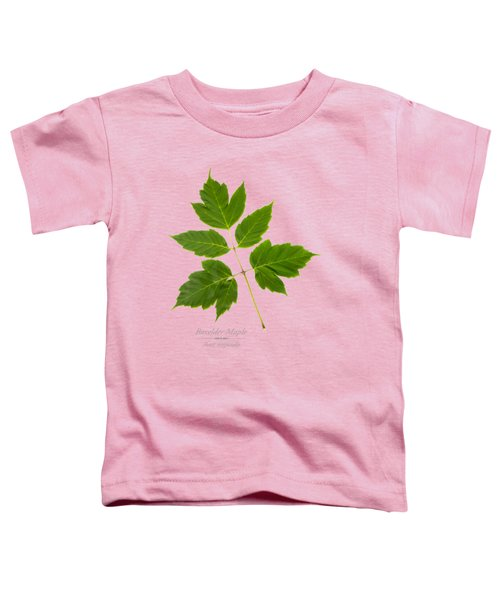 Toddler T-Shirt featuring the mixed media Box Elder Maple by Christina Rollo