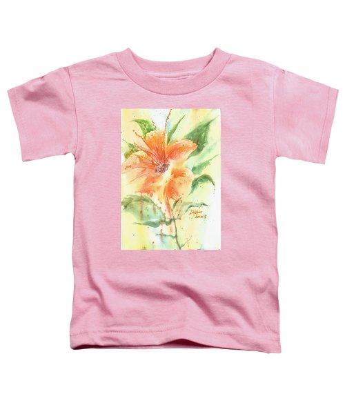 Bright Orange Flower Toddler T-Shirt