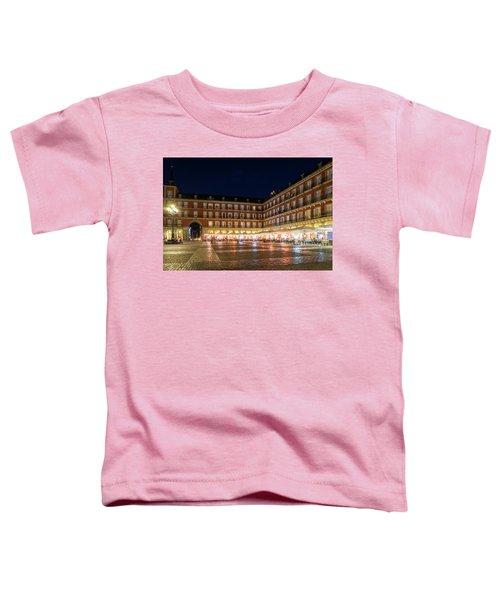 Brightly Lit Midnight - Plaza Mayor In Madrid Spain Toddler T-Shirt