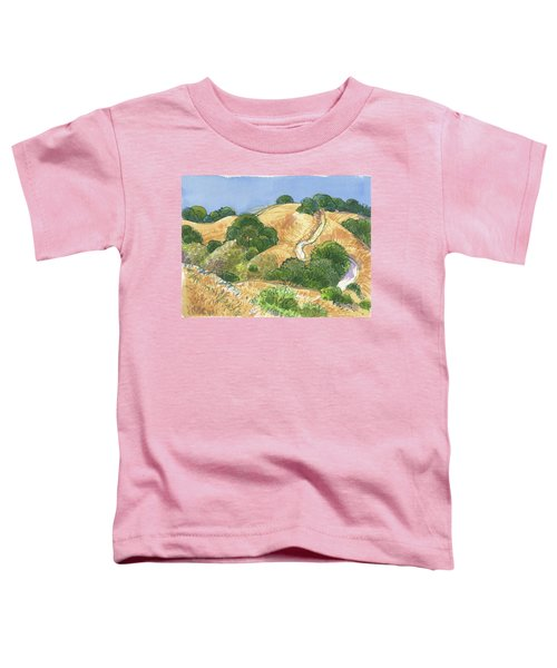 Toddler T-Shirt featuring the painting Briones Crest Trail In June by Judith Kunzle