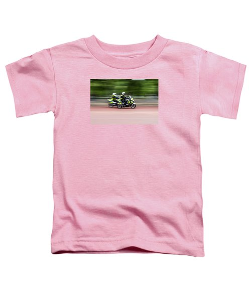 British Police Motorcycle Toddler T-Shirt