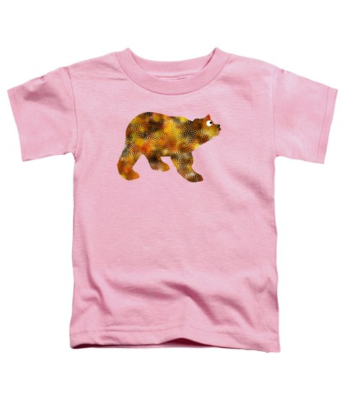 Brown Bear Silhouette Toddler T-Shirt by Christina Rollo