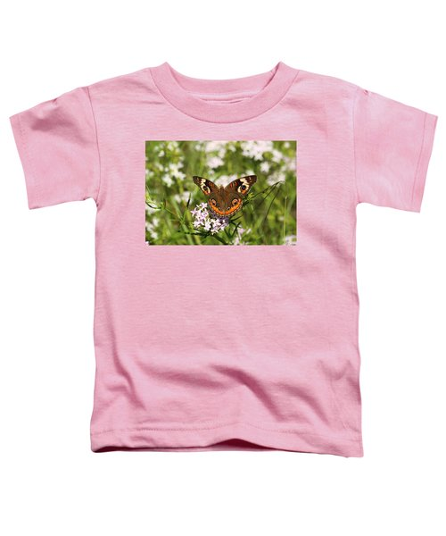 Buckeye Butterfly Posing Toddler T-Shirt