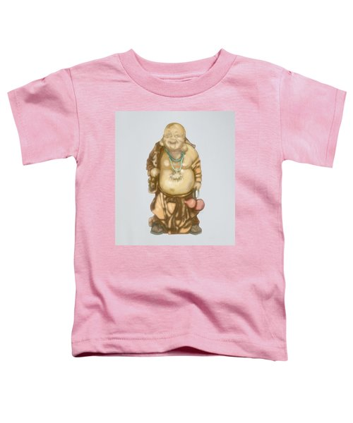 Toddler T-Shirt featuring the mixed media Buddha by TortureLord Art