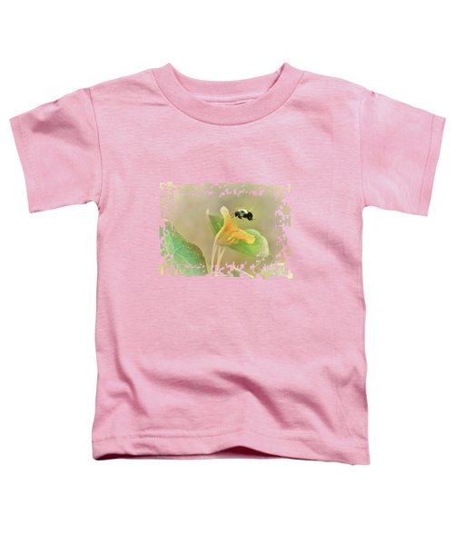 Bumblebee And Nasturtium Toddler T-Shirt