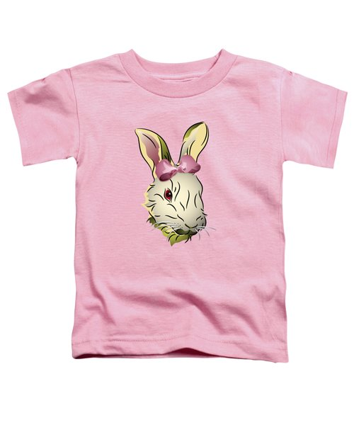 Bunny Rabbit With A Pink Bow Toddler T-Shirt
