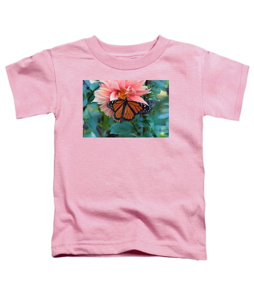 Butterfly On Dahlia Toddler T-Shirt