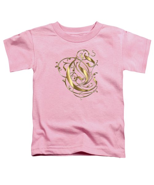 C Ornamental Letter Gold Typography Toddler T-Shirt