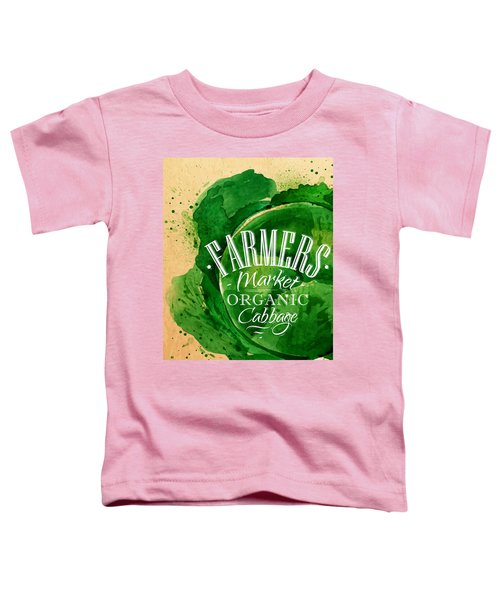 Cabbage Toddler T-Shirt by Aloke Creative Store