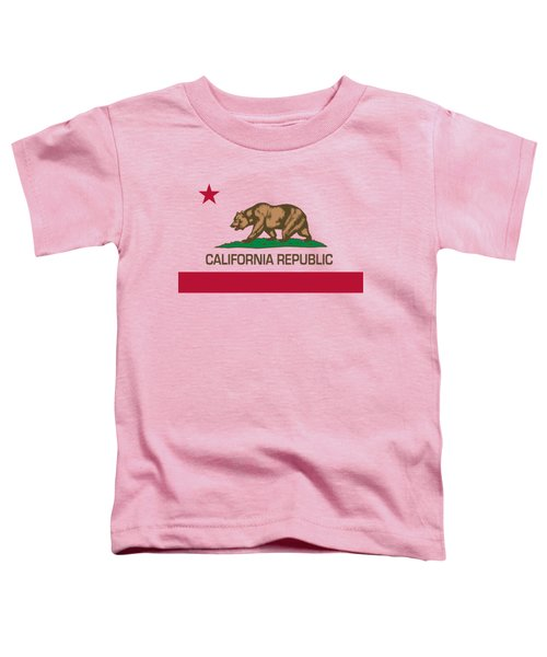 California Republic State Flag Authentic Version Toddler T-Shirt by Bruce Stanfield