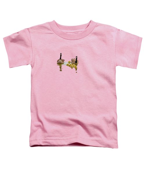 Canadian Geese And Goslings Toddler T-Shirt