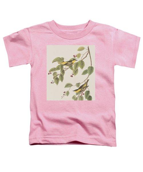 Carbonated Warbler Toddler T-Shirt by John James Audubon