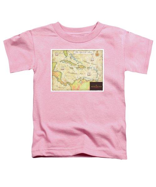 Caribbean Map II Toddler T-Shirt