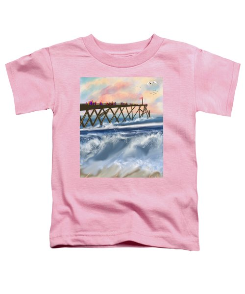 Toddler T-Shirt featuring the digital art Carolina Beach by Gerry Morgan