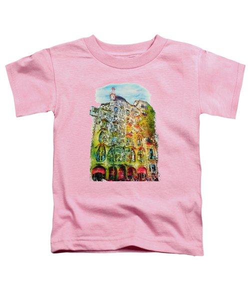 Casa Batllo Barcelona Toddler T-Shirt by Marian Voicu