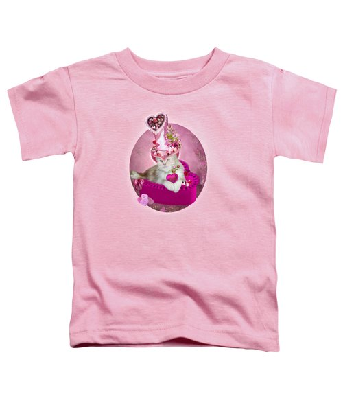 Cat In Valentine Candy Hat Toddler T-Shirt