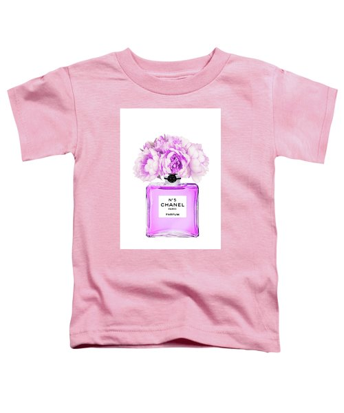 Chanel Print Chanel Poster Chanel Peony Flower Toddler T-Shirt