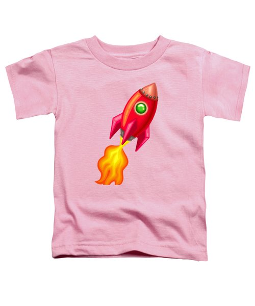Cherry Bomb Rocket Toddler T-Shirt by Brian Kemper