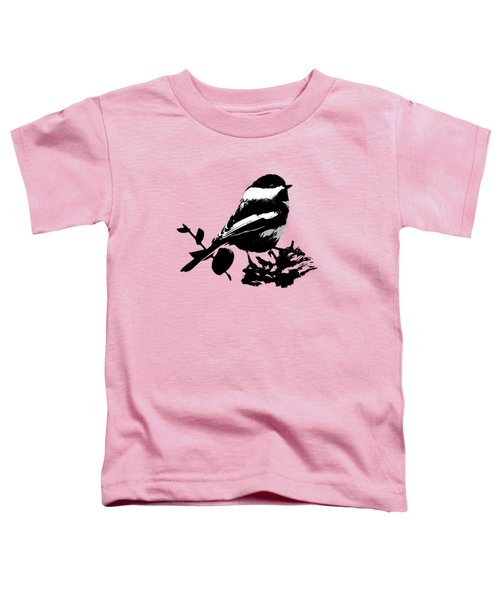 Chickadee Bird Pattern Toddler T-Shirt by Christina Rollo