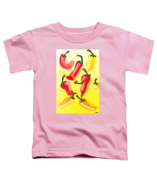Toddler T-Shirt featuring the painting Chiles En El Sol by Antonio Romero